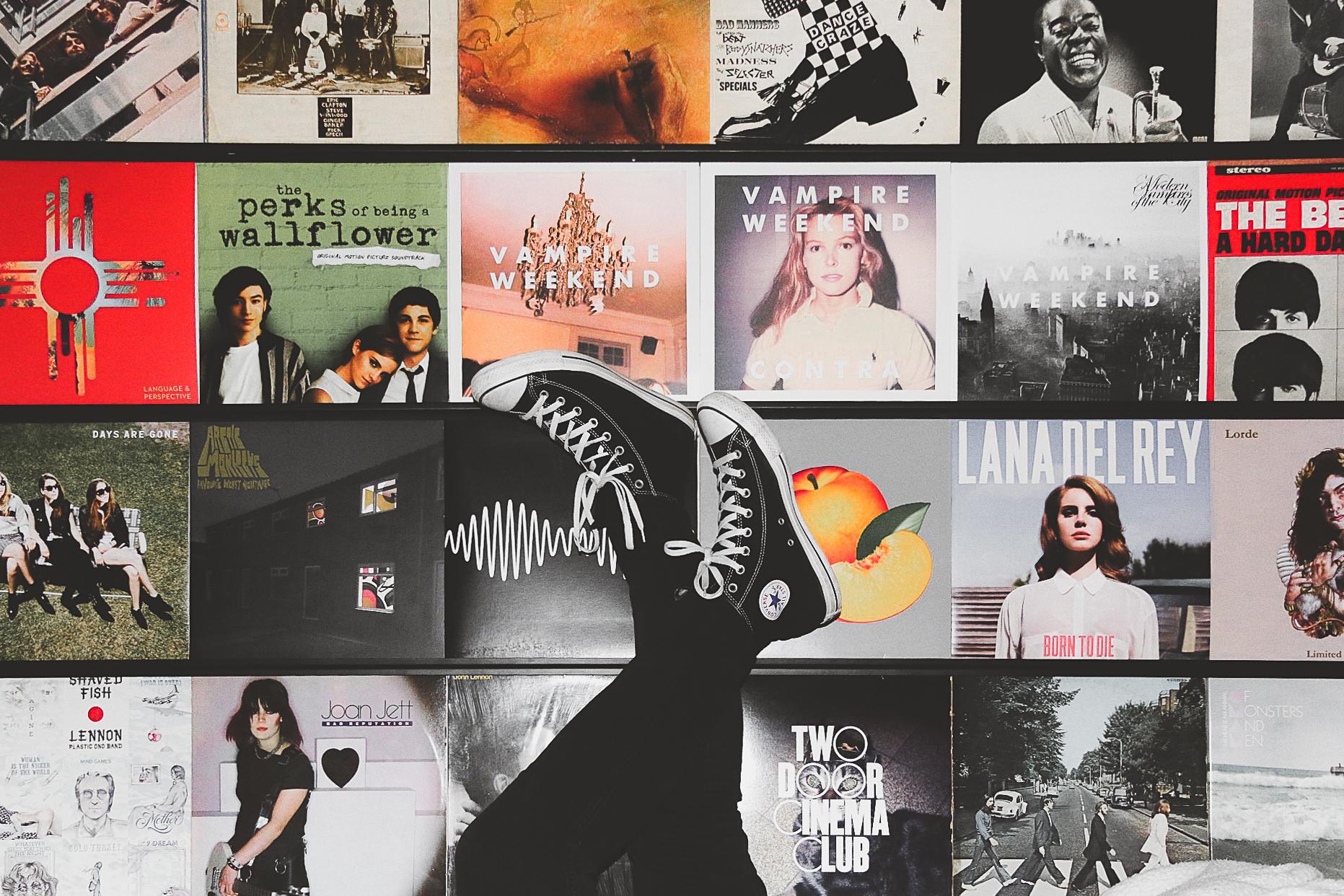 Converse Record Wall